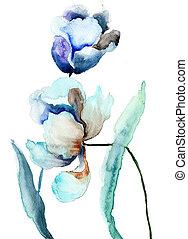 frühjahrsblumen, tulpen