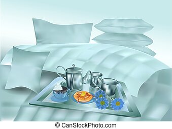 Fruhstuck Bett Illustrationen Und Clip Art 371 Fruhstuck Bett