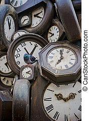 fra, tous, de, parís, monumento, tren, l'heure, estación, ...