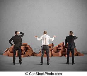 fracaso, de, un, edificio, proyecto