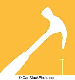 fracaso, martillo, o, utilizar, incorrectly