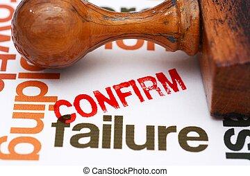 fracasso, confirmar