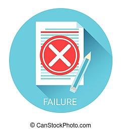 fracasso, problema, conceito, negócio, ícone