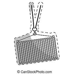 fracht behälter, ikone
