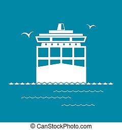 fracht behälter, schiff