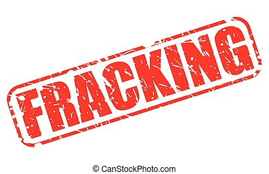 Fracking red stamp text