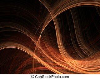 fractal, 3d, conception, vagues
