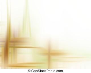 Fractal Abstact Background - Light brown weave in corner -...
