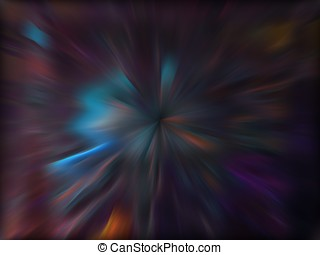 Fractal Abstact Background - Rippling zoom blur colors -...