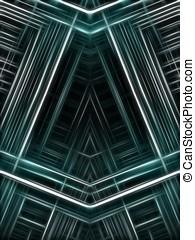 Fractal Abstract Background - Angular weave - Angular woven...