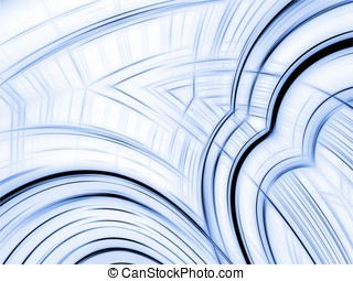 Fractal Abstract Background - Curving stripes - Curving...