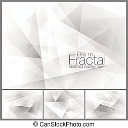 Fractal abstract background series, file format EPS 10