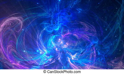 Fractal abstract background in violet and blue color