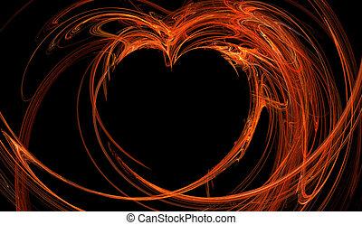 Fractal abstract - hot heart