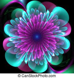 fractal, arte, flor