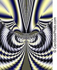 fractal, arte, hermoso, plano de fondo, original