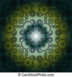 fractal, astratto, sfondo nero