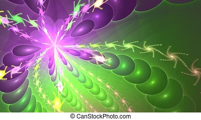 Fractal background with abstract bright pattern. High detailed loop