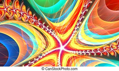 Fractal background with abstract bright spiral. High...