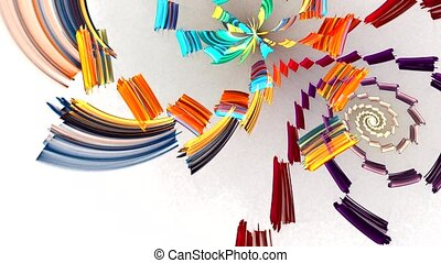 Fractal background with abstract bright spiral. High detailed loop