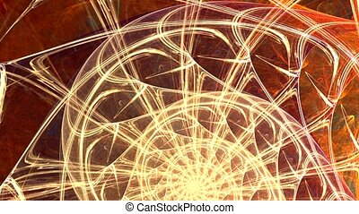 Fractal background with abstract golden spiral. High detailed loop