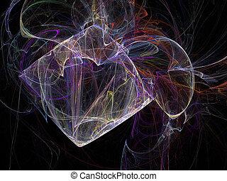fractal, black , digitale