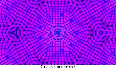 Fractal blue kaleidoscopic background. Background motion...