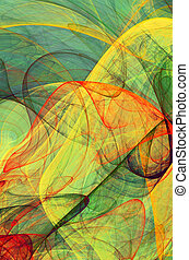 colored veils - fractal colored veils - psychedelic ...