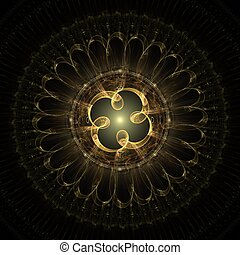 fractal, creación, diseño, centro