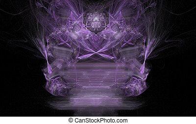 Fractal Demon or Spirit - Purple fractal spirit design with...