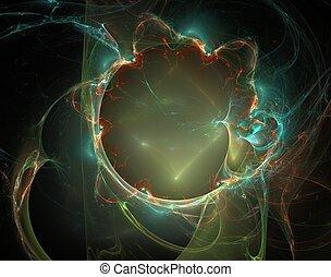 fractal, espace