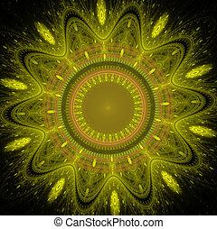 fractal, fiore, soleggiato