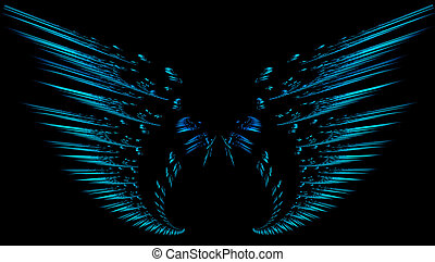 fractal, flügeln