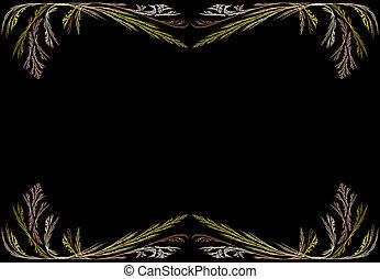 Fractal Frame With Black Copy Space