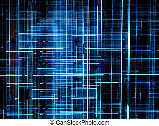 Fractal grid - abstract digitally generated image
