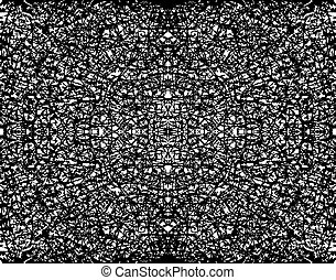 Fractal grunge - Abstract editable vector illustration of a...