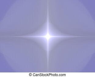 fractal, illustratie, van, vier, rayed, toonaangevend, ster