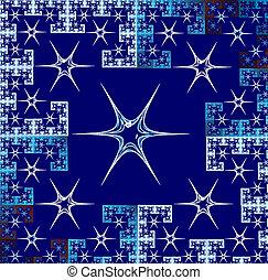 fractal illustration background bright carpet with geometric sta