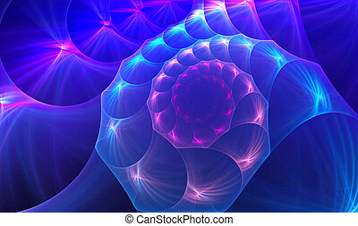 fractal illustration background sea shell on a clear day