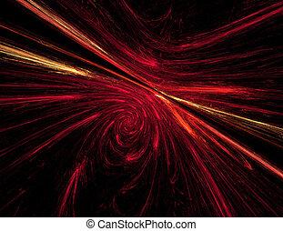 fractal illustration of combustion on black