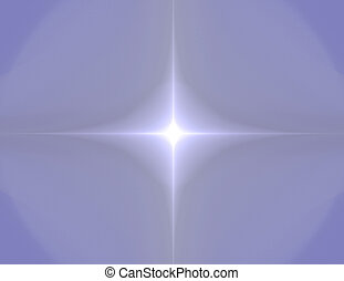 fractal illustration of four rayed leading star on blue