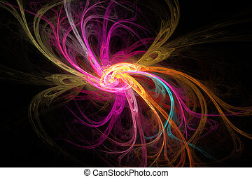 Fractal image: abstract flower.