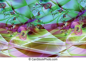 Fractal image: colorful world