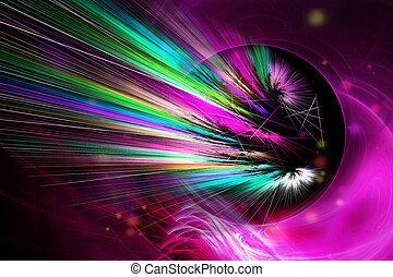 "Fractal image: ""Galaxy's black hole"""