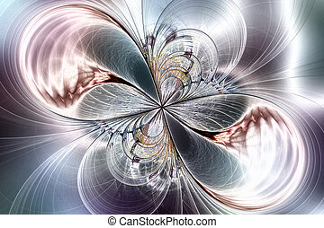 Fractal image in the form of a butterfly. - Illustration:...