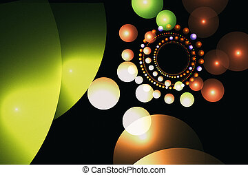 Fractal image of colorful balloons.