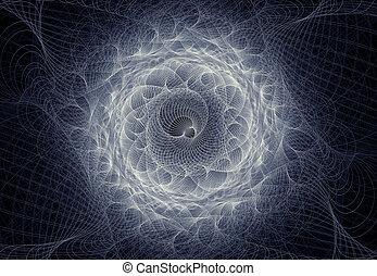 fractal in black