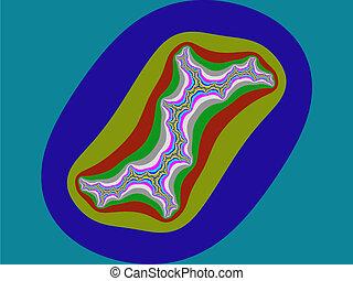 Fractal Julia set coloured illustration or background