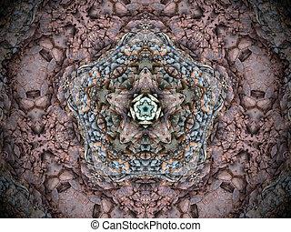 kaleidoscope - Fractal kaleidoscope background with images...
