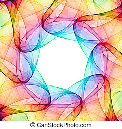Colorful 3D rendered kaleidoscope pattern (abstract design)